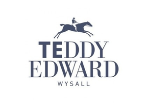 mens clothing made in britain, men's outfit ideas, category image showing teddy edward wysall text logo image with a man riding horse logo on a white background, what to wear,