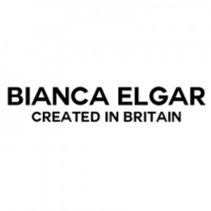 bianca elgar created in britain black text on white background