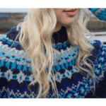 british made womenswear woman wearing an eribe luxury knitted jumper