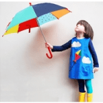 british childrens clothing, girl with umbrella