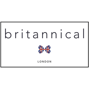 british childrens clothing, britannical logo text with inion jack bow tie