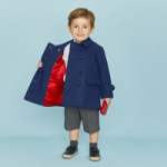 british childrens clothing category image showing boy wearing blue jacket by britanaiccal