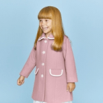 british childrens clothing category image showing a girl in pink coat by britannical