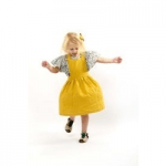 little cloth shop girl in yellow dress