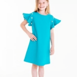 lola starr childrenswear girl in blue dress