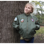 little hero girl in army jacket kids clothes