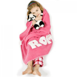 girl wrapped in pink mine london towel
