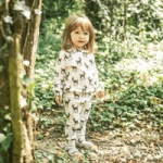 twinkledust childrenswear giel dressed in pyjama set in woods