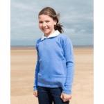 girl waering blue knitted jumper by bonnie childrenswear