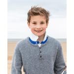 britsih childrenswear category image boy wearing grey knitted jumper by bonnie united kingdom