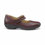 british made womens shoes category image showing a burgundy womans comfortable shoe by hotter