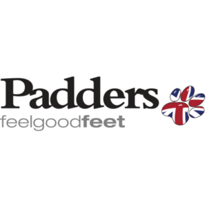 british made womens shoes category image showing padders feel good feet logo with british dog foot image