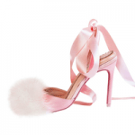 deeasjer fluffy toe pink high heel shoes