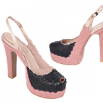 pink and black deeasjer high heel shoes