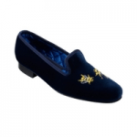 womens shoes made in britain category image showing a crockett and jones blue slipper