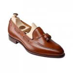 british made womens shoes category image showing a crockett and jones brown womens loafer shoe