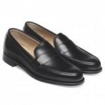 mens shoes made in britain category image showing a pair of black luxury loafer shoes made by joseph cheaney