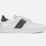 mens shoes made in uk category image showing a goral white trainer