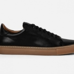 mens shoes made in uk category image showing a goral black trainer with gum sole
