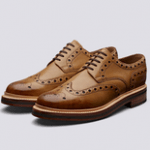 uk mens shoe brands category image showing a grenson brown brogue goodyear welted