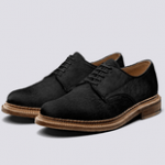 grenson black suede luxury shoe