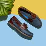 chatham marine british blue and brown boat shoe