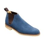 crockett and jones blue suede chelsea boot