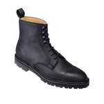 mens shoes made in britain category image showing a crockett and jones luxury mens high black boot