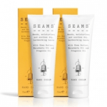 british skincare products category image showing seams handcream two bottles