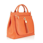 category image showing a bright orange hand bag made by sarah haran luxury accessories