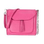 british designer handbags, category image showing a pink handbag made by sarah haran on a white background