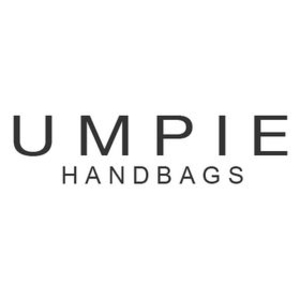 british designer handbags, category image showing umpie handbags black text logo on white background