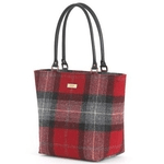 british made bags and accessories category image showing a tartan shopper bag by umpie