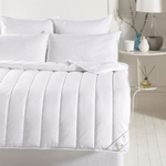 Category image showing luna textiles white wool fibre bedding mattress topper