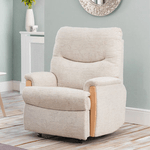 british made furniture, celebrity furniture makers beige recliner chair