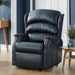 british made furniture, category image showing a black leather recliner by celebrity recliners