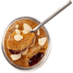 british food brands category image showing freaks of nature almond desert with spoon