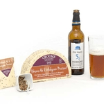 croome cuisine cheese selection and beer drink