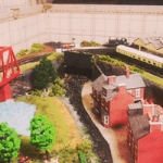 suitcase trains train set bridge scene giftware made in britain