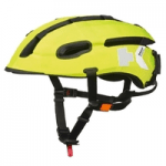 British Cycling Equipment, Category image showing a yellow hedkayse cycle helmet