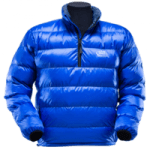 british made sports and outdoor equipment category image showing a bright blue outdoor jacket by PHD