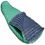 british made sports and outdoor equipment category image showing a green sleeping bag by PHD