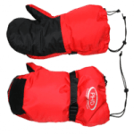 british made sports and outdoor equipment category image showing a pair of red outdoor mitten gloves