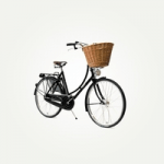british made bikes category image showing a ladies bicycle with basket on the front made by pashley cycles