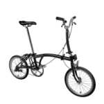 british made bikes equipment category image showing a brompton bicycle in black