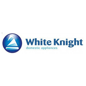 british technology category image showing white knight domestic appliances text in blue on white background