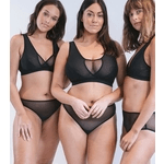 underwear made in uk, category image showing women wearing lara intimates black sheer underwear