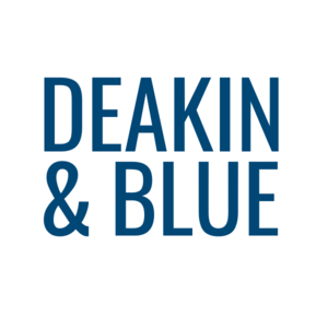 uk made swimwear, category image showing deakin and blue text logo for ethical womens swimwaer