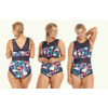 uk made swimwear, category image showing a woman wearing floral swimsuit by deakin and blue