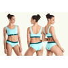 uk made swimwear, category image showing woman in 2 piece bikini set by deakin and blue ethical swimwear